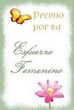 Premio - Esfuerzo femenino