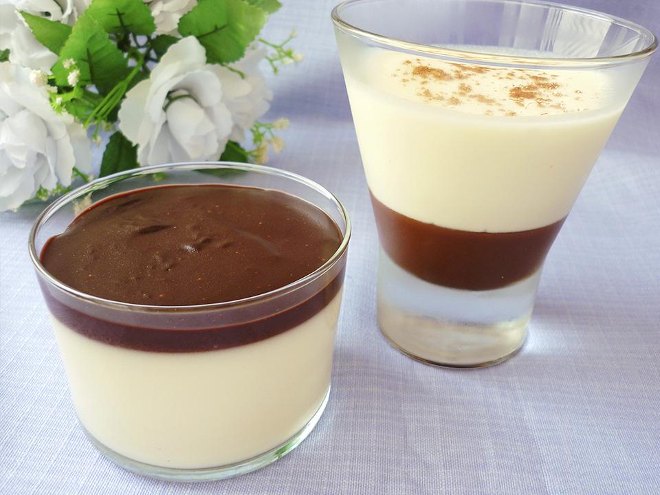 Panna Cotta de yogur y chocolate